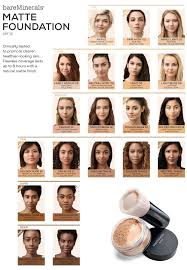 Bareminerals Foundation Color Chart Bare Minerals Foundation Color Chart Gallery Chart Example