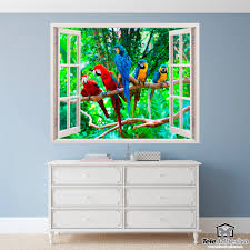 Kunststoff 3d Fenster Papageien Webwandtattoocom