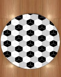 else black gray white cubes boxes geometric nordec 3d print anti slip back round carpets area rug for living rooms bathroom patterned carpets carpet