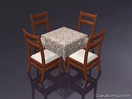 dining set with cloth the sims 2
