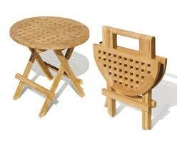 folding round teak picnic table folding garden tables