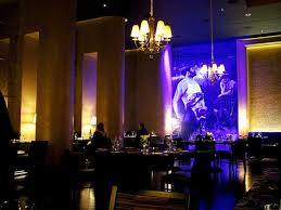 unique restaurant lighting ideas leds. Yellow Shade Chandelier Above Large Black Dining Table And Small Leather Chairs Also Blue Led Lamp In Wall Painting Modern Restaurant Lighting Unique Ideas Leds