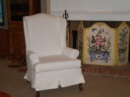 Fancy Fireplace Furniture Single Sofa With Fancy White Wingback Chair Slipcover