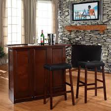Living Room Bar Sets White Bar Table With Wine Glass Storage And Glass Shelf Coaster