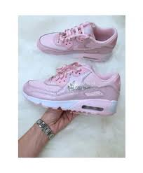 complete in specifications nike air max 90 womens pink white leather shoes with swarovski crystal clearance