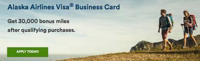 30000 Mile Bonus Now On Bank Of America Alaska Airlines Business Card