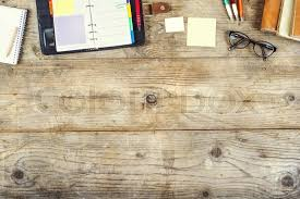 table background. Interesting Background Mix Of Office Supplies On A Wooden Table Background View From Above   Stock Photo Colourbox Intended Table Background U