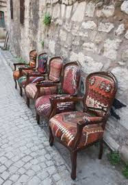 using rugs as upholstery kilim covered armchairs chair