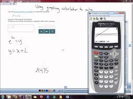 using graphing calculator to solve exponential equations