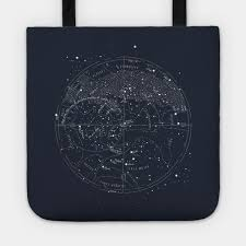 Northern Hemisphere Constellation Chart Vintage Northern Hemisphere Star Map