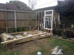 build a garden office. Building Garden Office Cheap First Wall And Window Build A