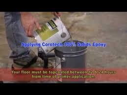Applying Corotech 100 Solids Epoxy Onto Concrete
