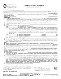 Free Commercial Property Lease Agreement Interesting Blank Rental Agreement Template Sample Lease Form Free Documents In