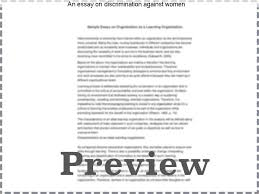 an essay on discrimination against women college paper service an essay on discrimination against women disclaimer this essay has been submitted by a