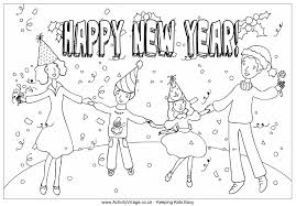 Small Picture New Year Celebration Colouring Page