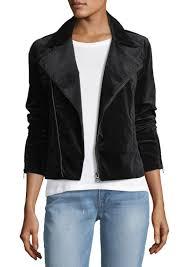 ag adriano goldschmied quincy zip front velveteen biker jacket