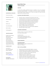 Resume Model For Accountant Free Resume Example And Writing Download