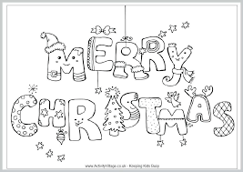 Christmas Coloring Page Template Disney Pages To Print Free For