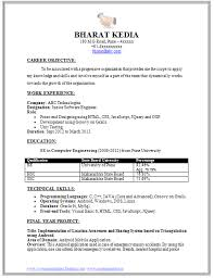 Making A Resume Format  resume making format sample software     Template net