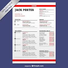 Resume Template Download Psd File Free Download