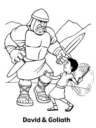 Small Picture David and goliath coloring pages to download and print for free