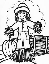 Small Picture Free Printable Scarecrow Coloring Pages For Kids