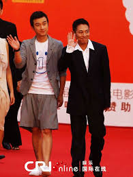 """With Wen Zhang who plays his son, at the premier of """"Ocean Heaven"""".   Jet  li, Jet lee, Movie stars"""