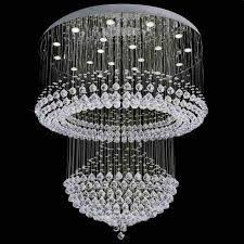 lighting amusing modern crystal chandelier 4 0001091 42 caux foyer mirror stainless steel base 12 lights