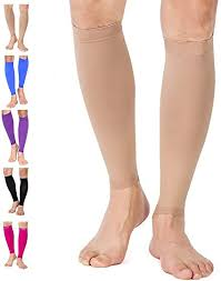 TOFLY Calf Compression Sleeve for <b>Men</b> & Women, <b>1 Pair</b>, Footless