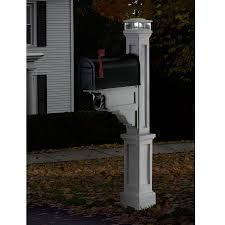 Product Image 2 Outside Solar Lights Mailbox Post Mailbox