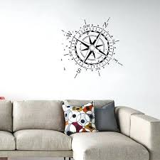 compass wall decals compass wall decal for living rooms bedrooms office decal dimensions compass rose wall
