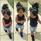 Stylish black toddlers