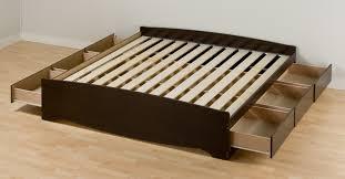 bed frames  bed with storage underneath raised platform bed frame