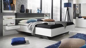 Bettanlage Elissa Bett Nachttisch Schlafzimmer Weiß Graphit Led 180