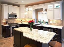 brown and white kitchen cabinets two tone kitchen cabinets brown and white white kitchen cabinets with dark brown granite countertops