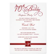 Invitations For 70th Birthday Party Templates 70th Birthday