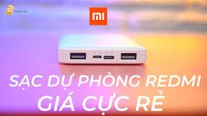 Sạc Dự Phòng Xiaomi Redmi 10.000mAh Giá Chỉ Hơn 250K - Quá Rẻ! - YouTube