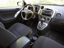 Toyota Matrix generations technical specifications and fuel economy