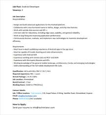 Nobby Android Developer Resume Classy Sample 6 Free Documents In Pdf