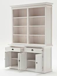 Halifax White Bookcase Hutch Dresser