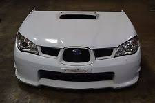 subaru no warranty white primary car truck body kits 2006 2007 jdm subaru impreza wrx sti front end conversion hood headlights bumper