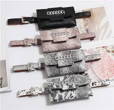 Women's <b>Waist Bag</b> Serpentine Alligator <b>Belt Bag</b> Pocket Money ...