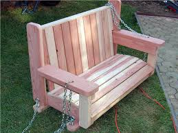 stripped paint your own wooden swing
