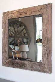 organic cypress wood wall mirror 48