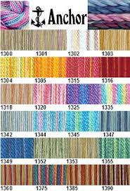 Anchor Floss Colour Chart Anchor Yarn Color Chart Janlynn Embroidery Floss Conversion