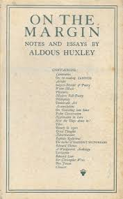 on the margin notes and essays by aldous huxley
