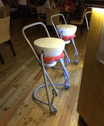 Something about these bar stools looks a little strange.