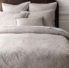 garment dyed percale paisley duvet cover dune