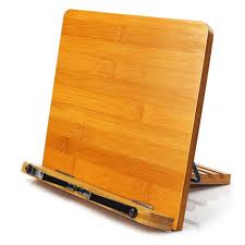bamboo book stand hengsheng adjule book holder tray and page paper clips cookbook reading