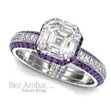 silvet amethyst engagement ring set asscher cut Wedding Rings Los Angeles Wedding Rings Los Angeles #12 wedding rings in los angeles